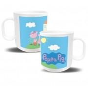 Kit de 10 Canecas de Plástico Personalizada Peppa Pig