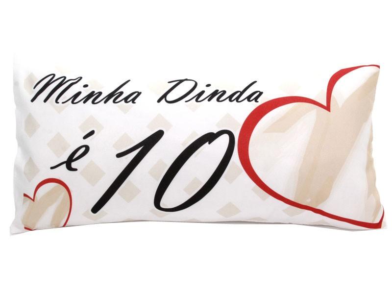 Almofada Palito Personalizada Minha Dinda é 10