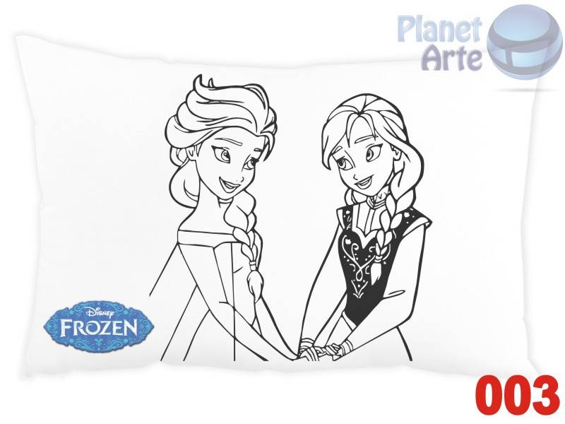 Kit de 10 Almofadaspara Colorir e Pintar Personalizada Frozen