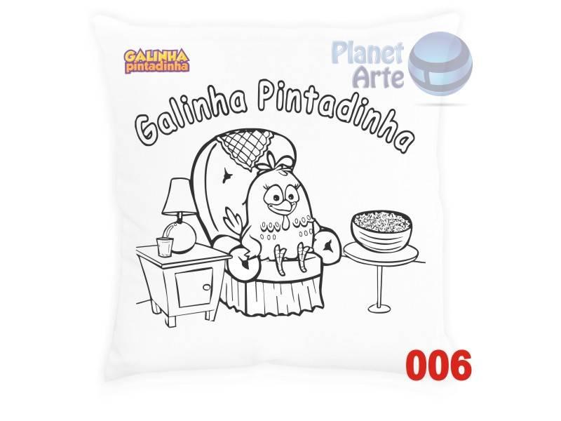 Kit com 10 Almofadas para Colorir e Pintar Personalizada Galinha Pintadinha