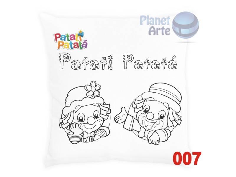 Kit com 10 Almofadas para Colorir e Pintar Personalizada Patati Patata