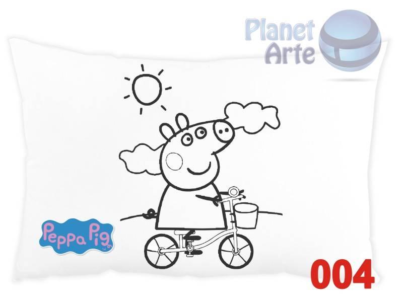 Kit de 10 Almofadas para Colorir e Pintar Personalizada Peppa Pig