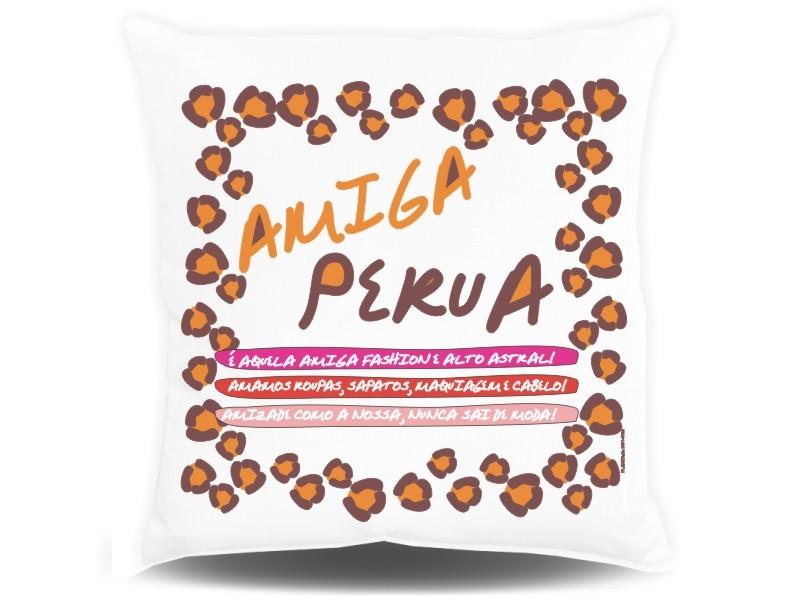 Almofada Quadrada Personalizada Amiga Perua