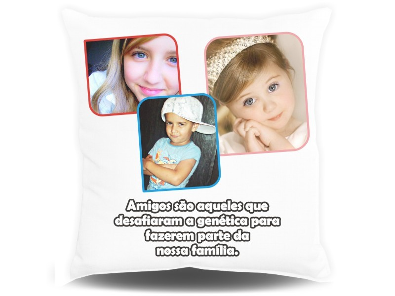 Almofada Quadrada Personalizada com Fotos e Mensagens - 002