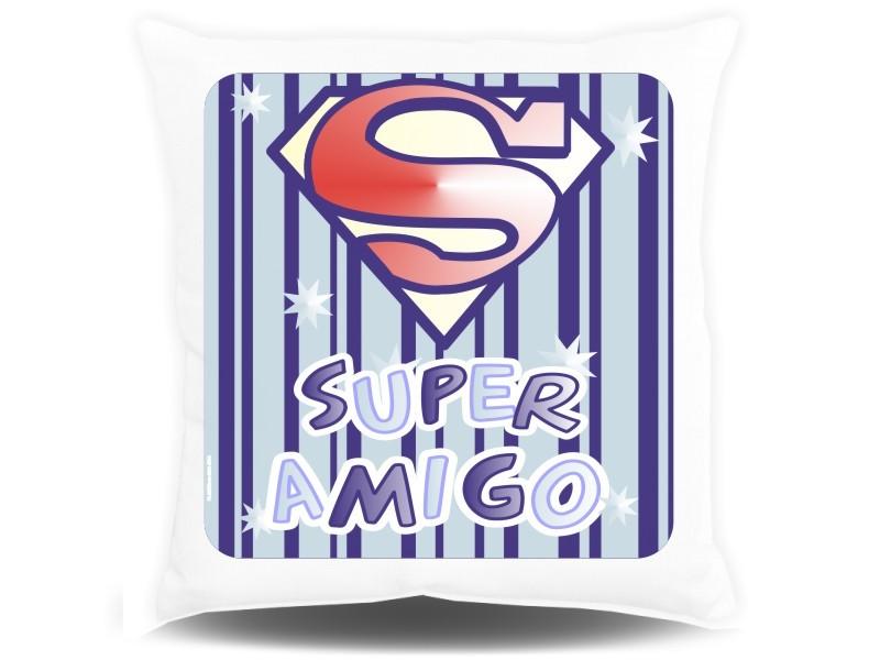 Almofada Quadrada Personalizada Amizade Super Amigo