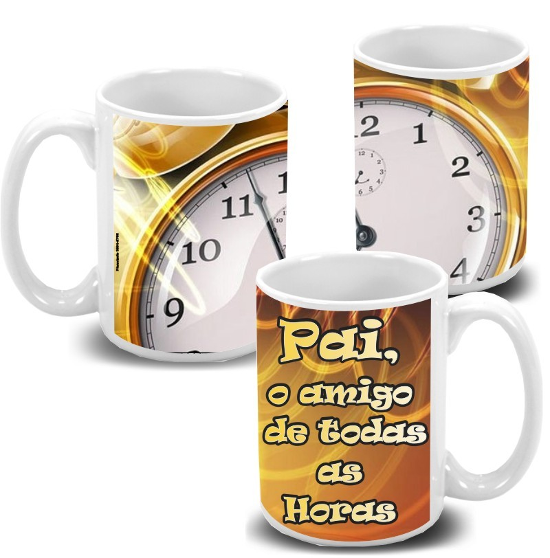 Caneca de Porcelana Personalizada Pai Amigo pra todas Horas