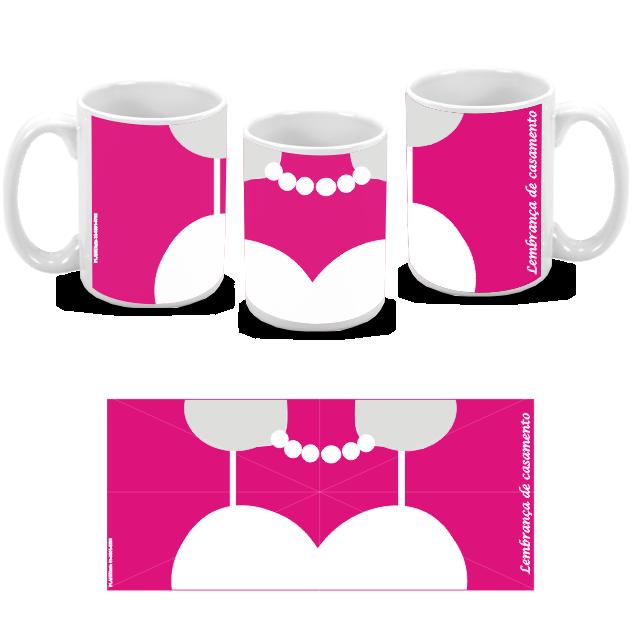 Kit com 10 canecas de porcelana personalizada para casamento padrinhos