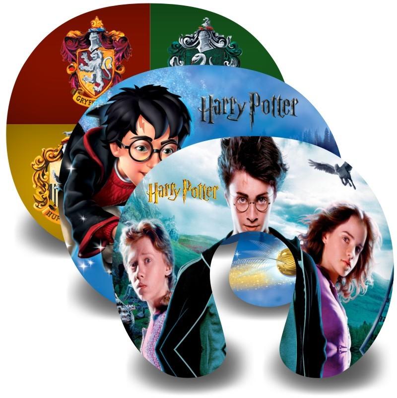 Kit com 10 Almofadas de Pescoço Lembrancinha Personalizada Harry Potter