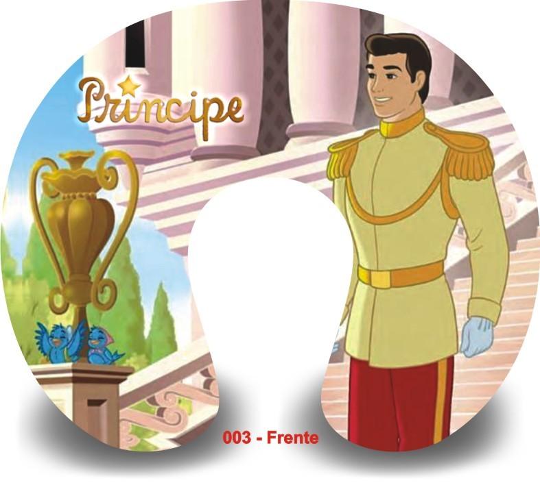 Kit com 10 Almofadas de Pescoço Lembrancinha Personalizada Príncipes