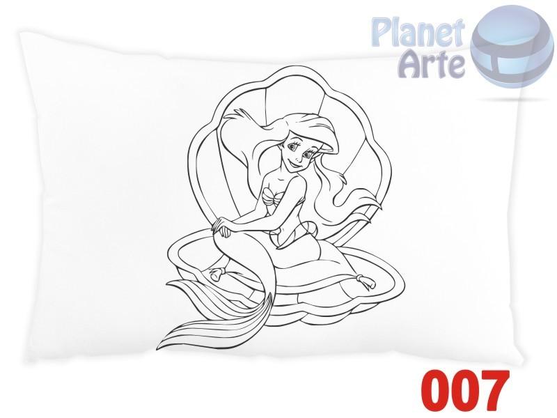 Kit com 10 Almofadas para Colorir e Pintar Personalizada Ariel a Pequena Sereia