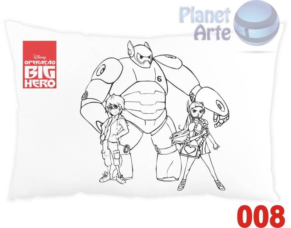 Kit com 10 Almofadas para Colorir e Pintar Personalizada Big Hero