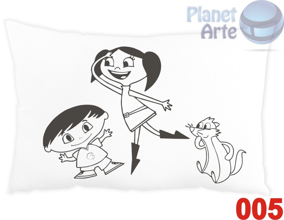 Kit com 10 Almofadas para Colorir e Pintar Personalizada Show da Luna