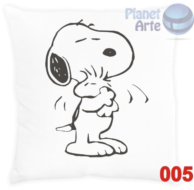 Kit com 10 Almofadas para Colorir e Pintar Personalizada Snoopy