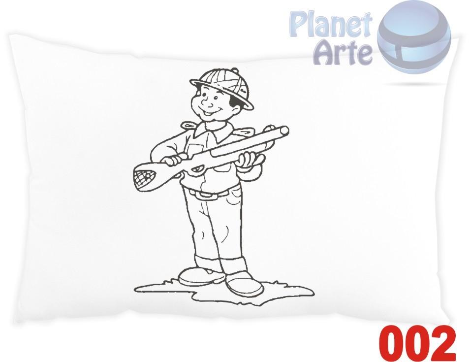 Kit com 10 Almofadas para Colorir e Pintar Personalizada Soldadinho de Chumbo