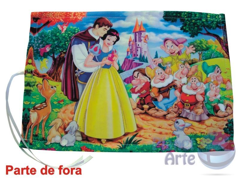 Kit de 10 Lousas Portáteis Personalizadas Lembrancinhas Branca de Neve