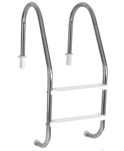 Escada Tradicional 1 1/2´´ em Aço Inox 2 Degraus Anatômicos em ABS Sodramar