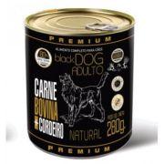 ALIMENTO ÚMIDO PREMIUM BLACK DOG ADULTO CARNE BOVINA E CORDEIRO 280 g