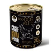 ALIMENTO ÚMIDO PREMIUM BLACK DOG ADULTO CARNE BOVINA E FRANGO 280 g