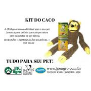 KIT DO CACO: MACACO PELÚCIA CHALESCO + 2 PET DELÍCIA