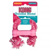 KONG PARA FILHOTES COM CORDA - Rosa Puppy Goodie Bone With Rope