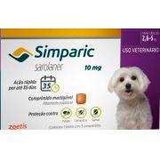 SIMPARIC ANTIPULGAS ZOETIS 2,6 A 5 Kg - 1 COMPRIMIDO
