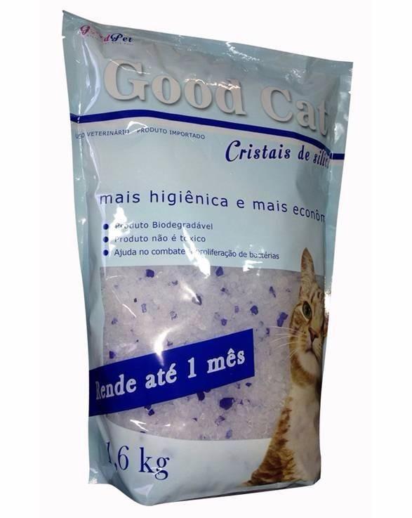 AREIA SANITÁRIA GOOD CAT CRISTAIS DE MICRO SILICA 1,6 Kg