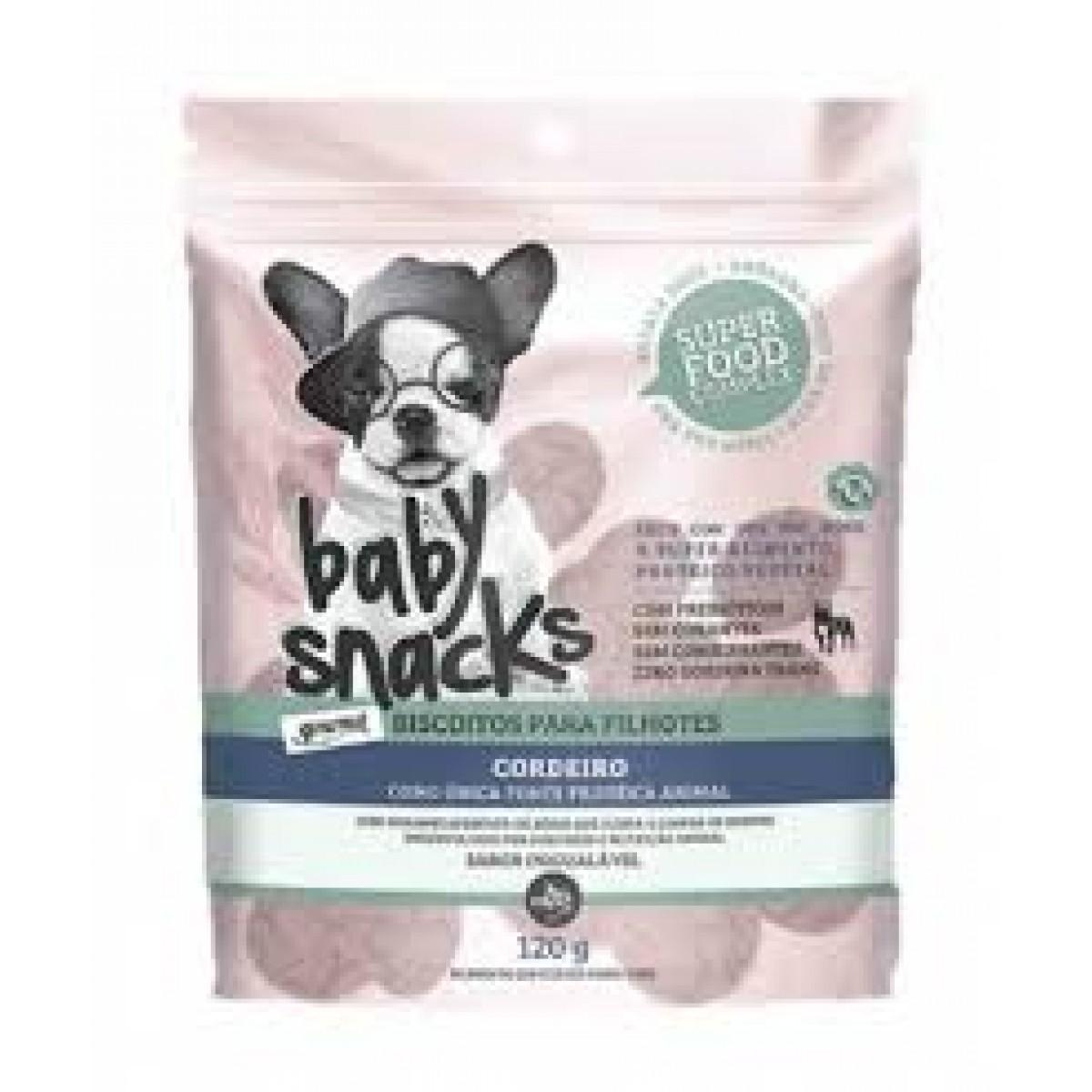 BISCOITO BABY SNACKS CORDEIRO THE FRENCH CO 120 G