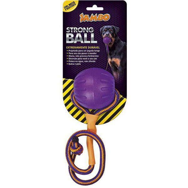 BOLA COM CORDA STRONG BALL PEQUENA ROXA JAMBO