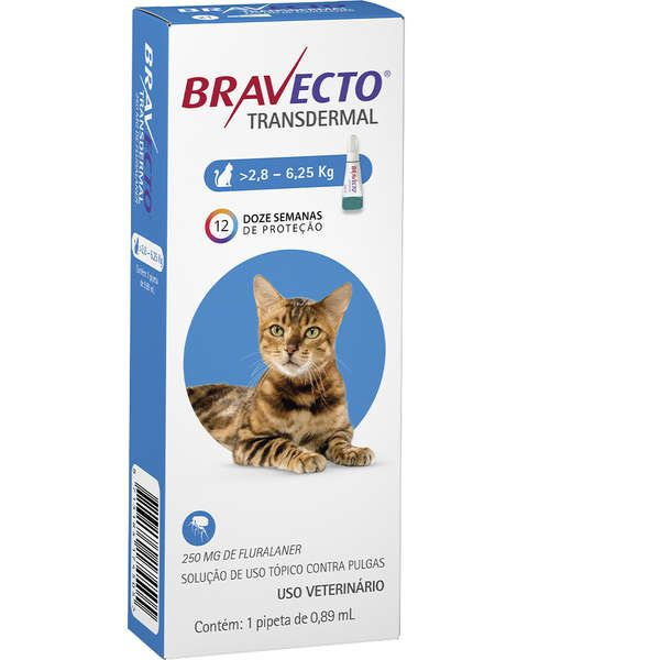BRAVECTO TRANSDERMAL PARA GATOS 250MG 2,8 a 6,25 kg