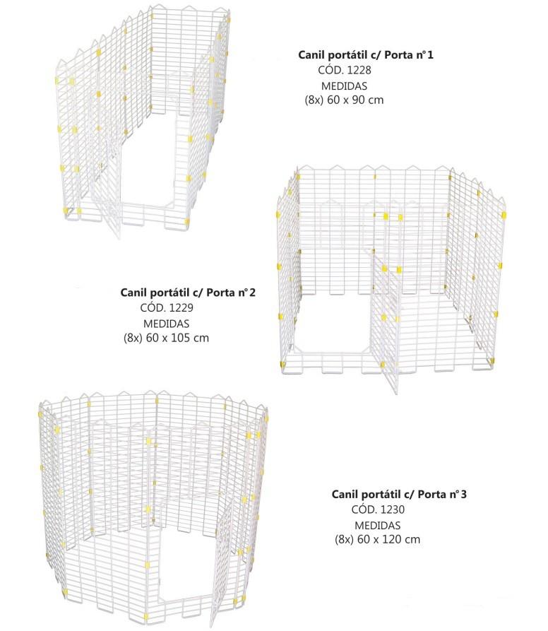 CANIL PORTATIL COM PORTA Tam.: N2 ( (8X)60X105cm)