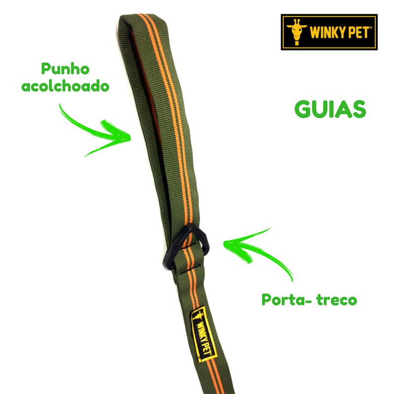 COLEIRA COM GUIA CITRIC WINKYPET