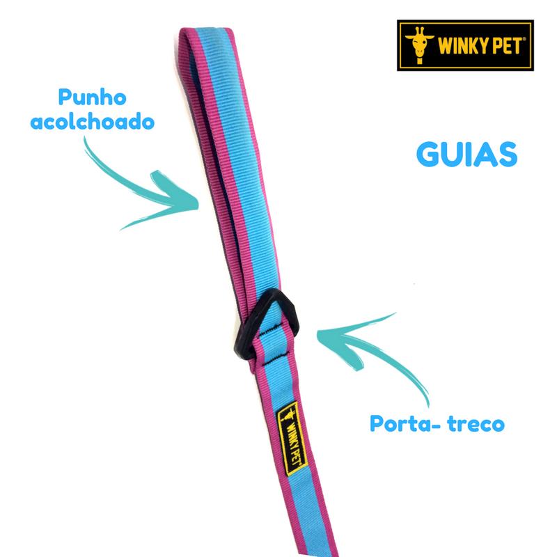 COLEIRA COM GUIA SUPER STAR WINKYPET