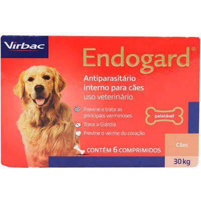 ENDOGARD VERMIFUGO VIRBAC 2,5 Kg com 2 comprimidos