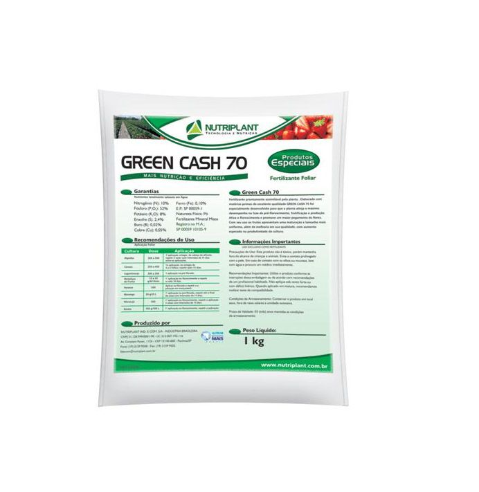 FERTILIZANTE GREEN CASH 70 2KG