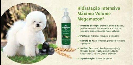 MEGAMAZON HIDRATAÇÃO INTENSIVA MAX VOLUME AÇAI E TRIGO PET SOCIETY 480 mL