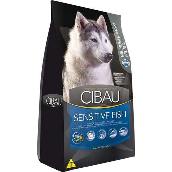 Ração Farmina Cibau Sensitive Fish Cães Adultos Raças Médias e Grandes12 Kg