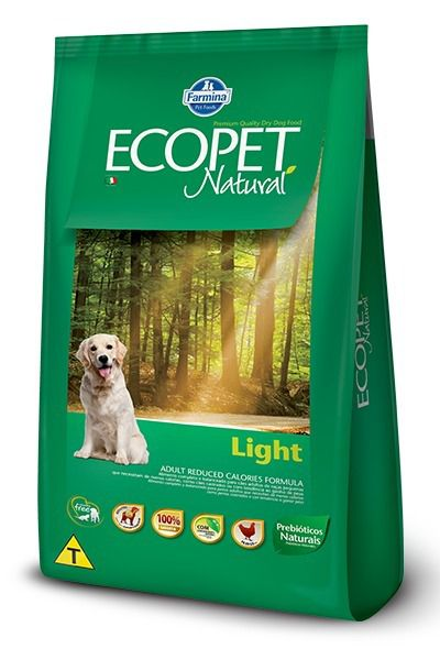 RAÇÃO FARMINA ECOPET NATURAL LIGHT 15 Kg