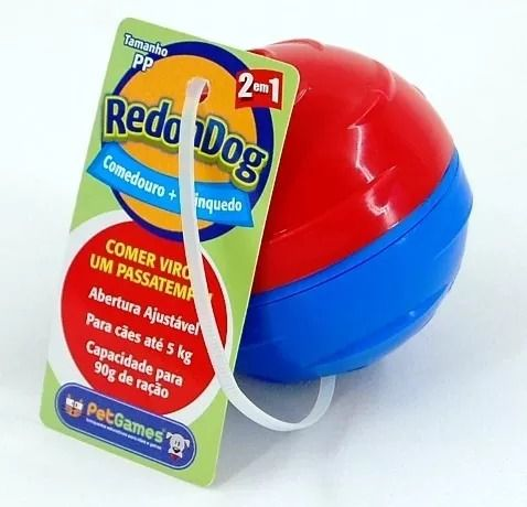 REDONDOG DISPENSER PARA RAÇÃO OU PETISCO PET GAMES