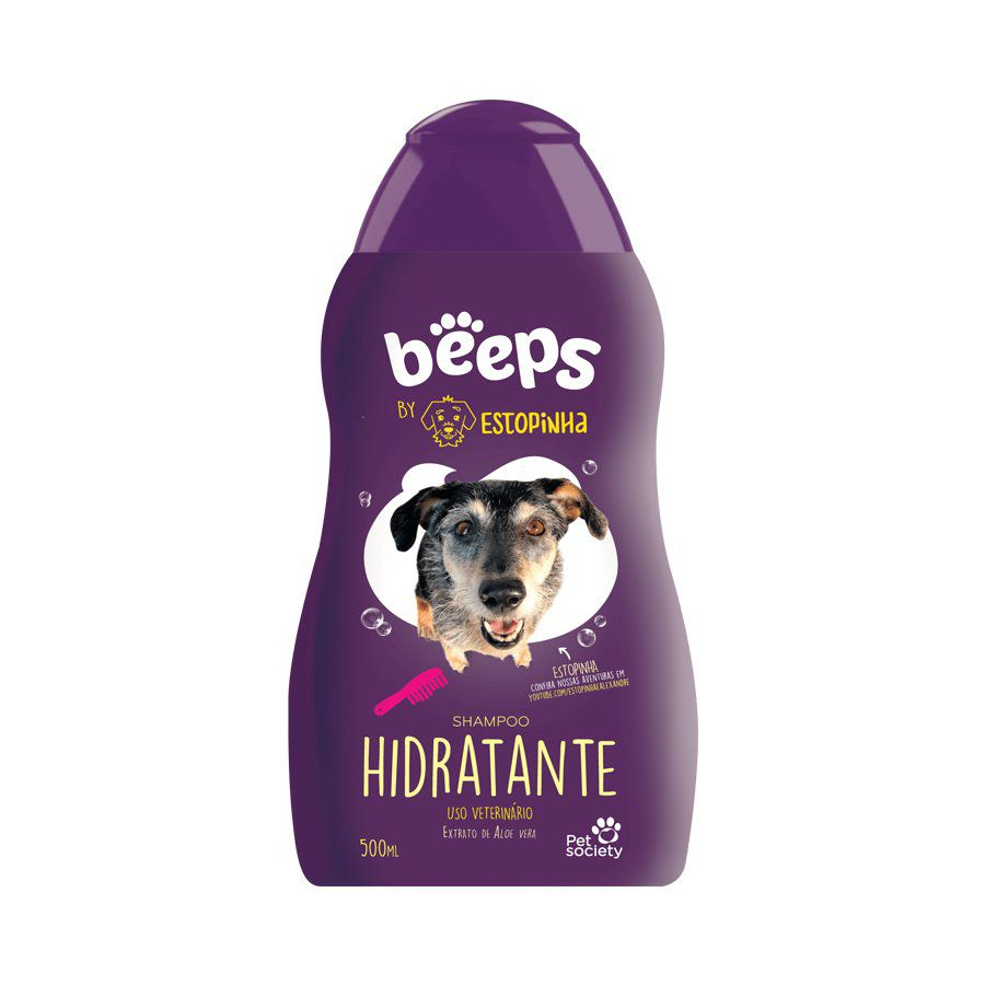 SHAMPOO BEEPS ESTOPINHA HIDRATANTE PET SOCIETY 500 mL