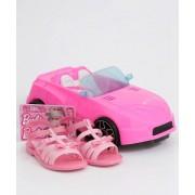 Sandália Infantil Brinde Carro da Barbie Grendene Kids