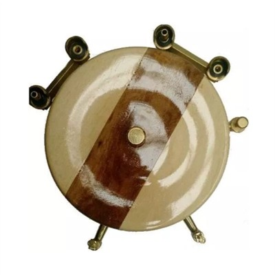 Chopeira Mescla Marfim com Imbuia 2 Torneiras 4 Garrafas - Art Chopp