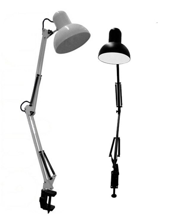 Luminária de mesa articulada com garra Branca/Preta - G20 - LMA20116 PRETA