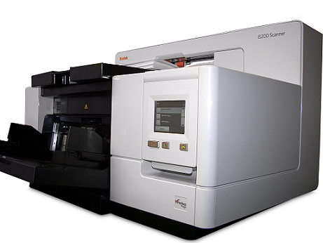 Scanner A3 Kodak i5650V - 180 ppm, ADF para 750 folhas e Ciclo diário: Sem limite
