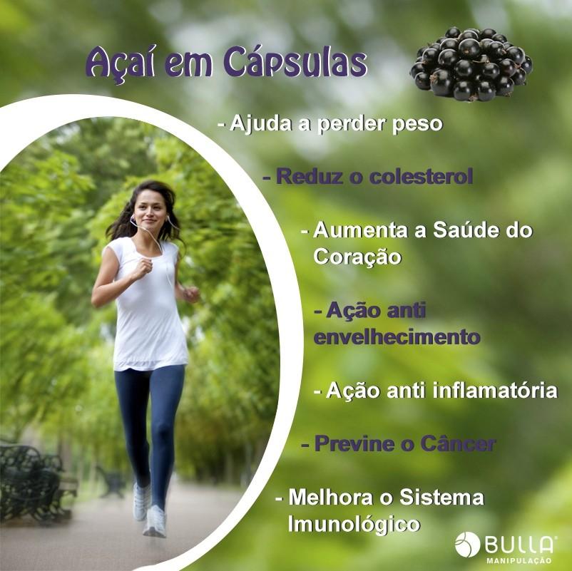 Açaí 500 mg - 60 Cápsulas   - Bulla Farmácia de Manipulação