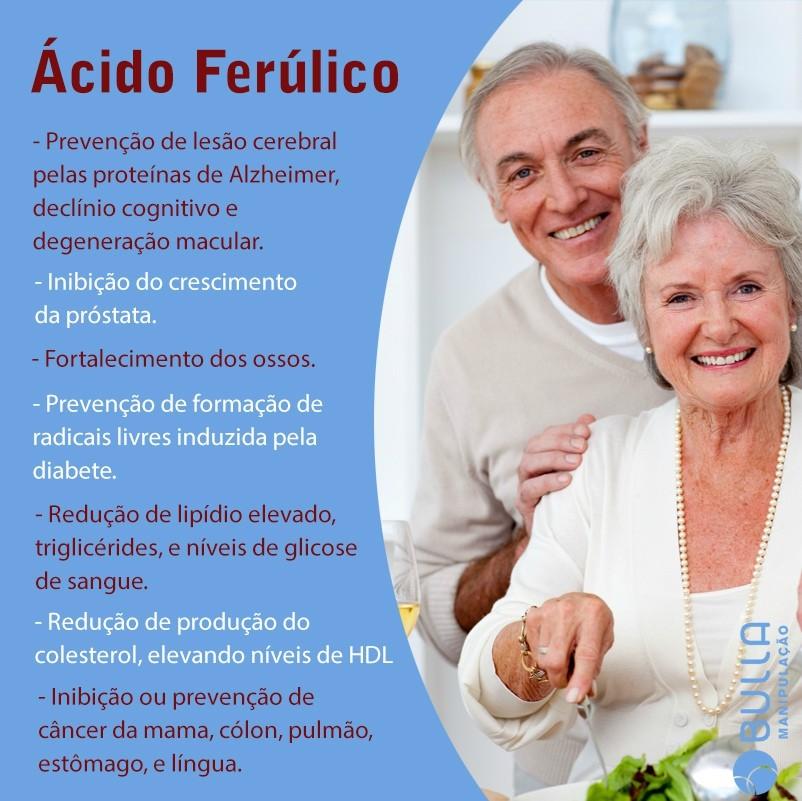 Ácido Ferúlico - 60 cápsulas   - Bulla Farmácia de Manipulação