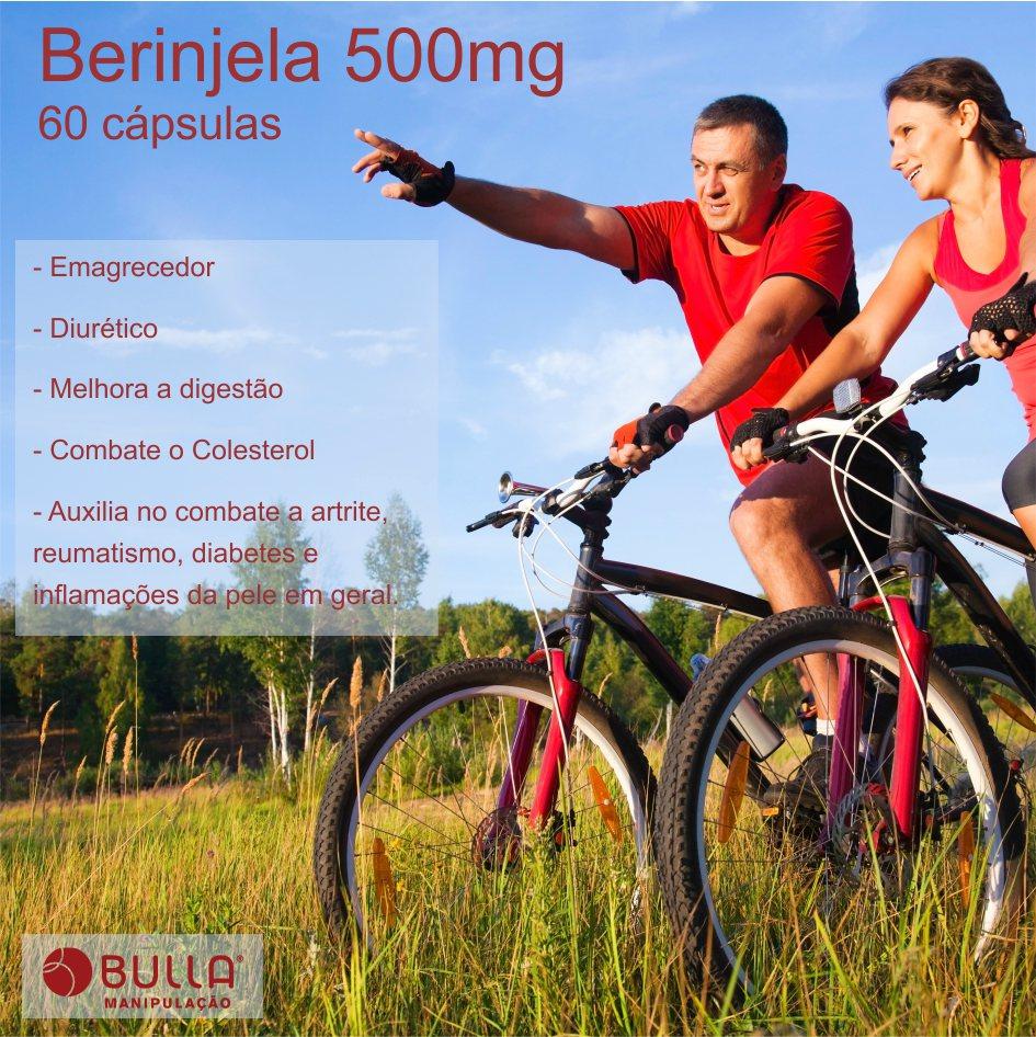 Berinjela 500 mg - 60 cápsulas  - Bulla Farmácia de Manipulação
