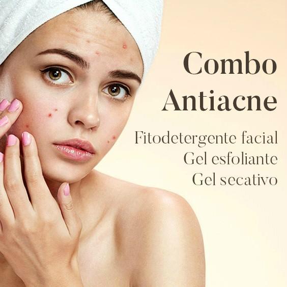 Combo Antiacne: Fitodetergente Facial + Gel Esfoliante + Gel Secativo  - Bulla Farmácia de Manipulação