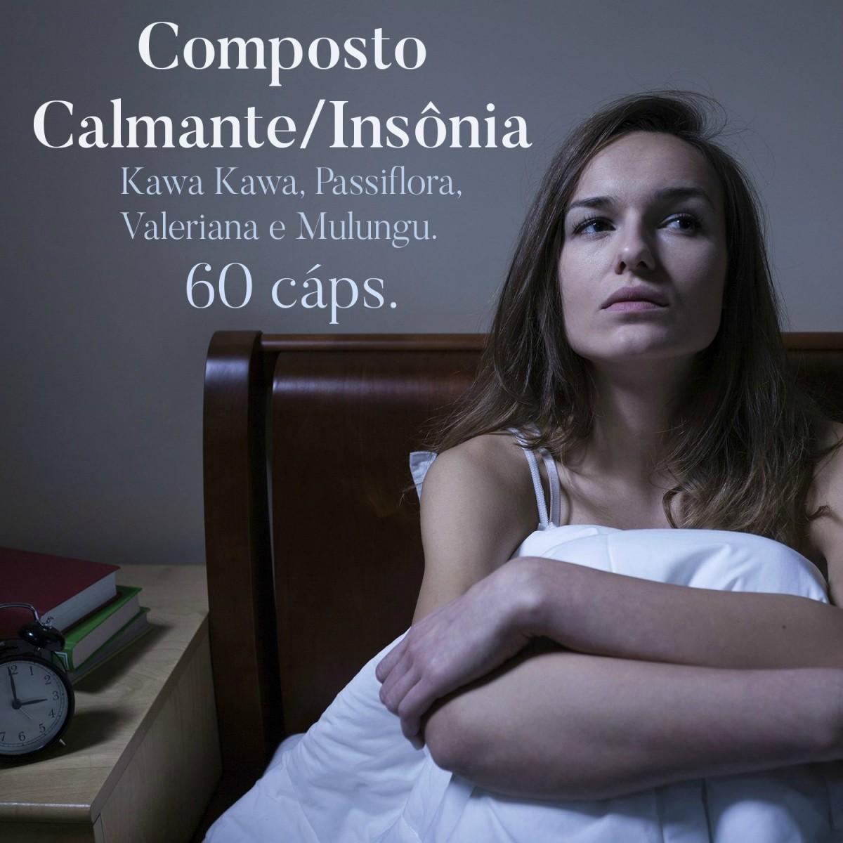 Composto Calmante/Insônia - 60 cápsulas   - Bulla Farmácia de Manipulação