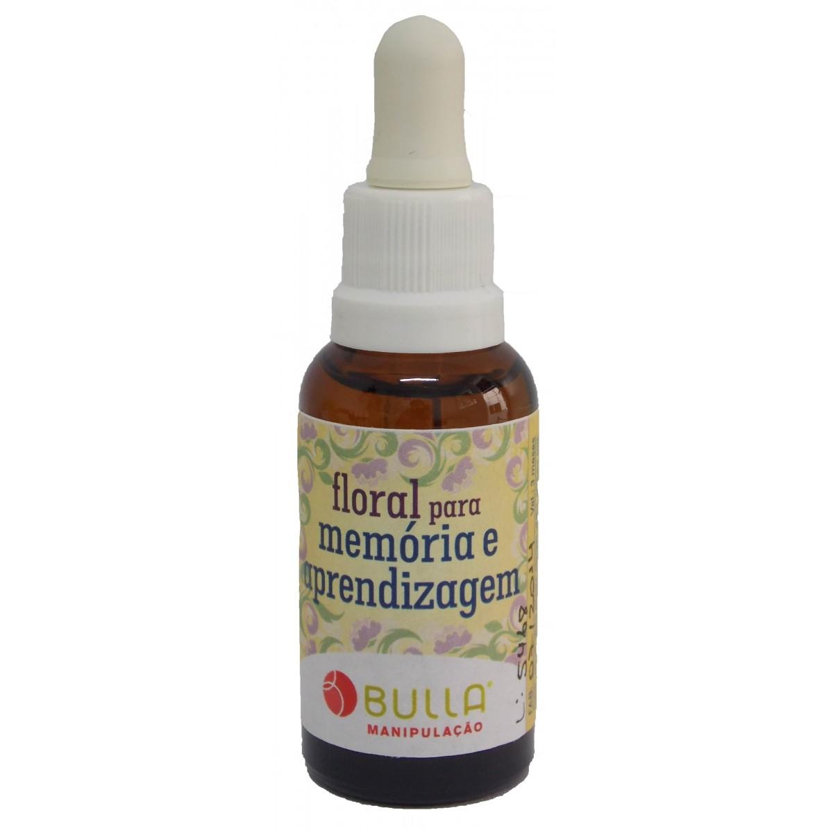 Floral Para Memória - Auxílio na Aprendizagem - 30 ml  - Bulla Farmácia de Manipulação