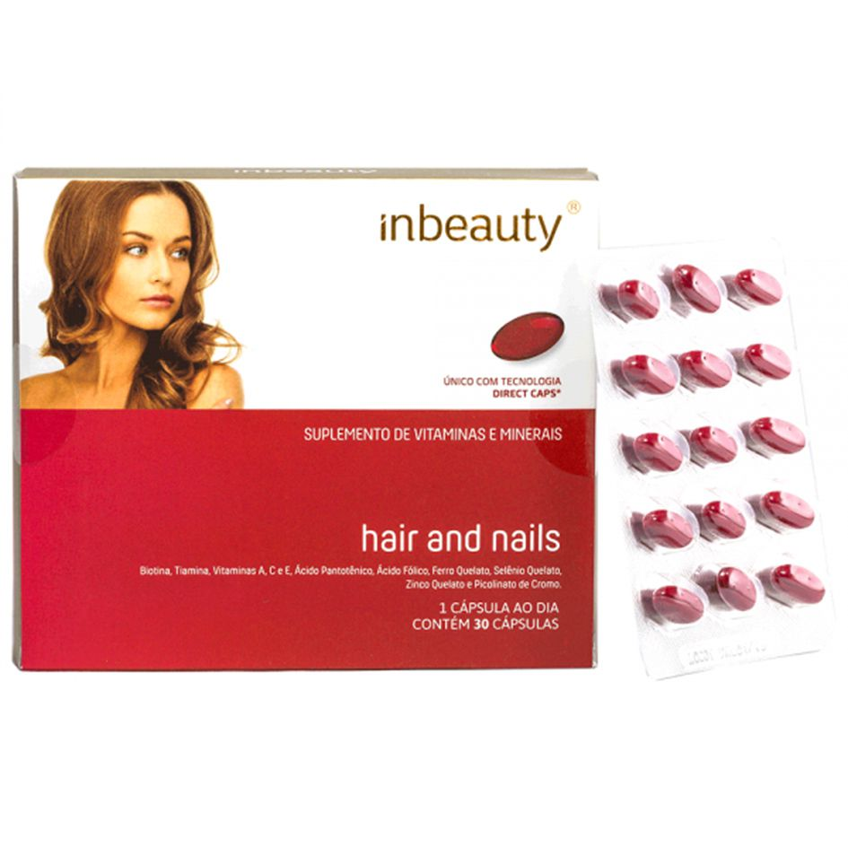 Inbeauty - Hair and Nails 500mg  - Bulla Farmácia de Manipulação